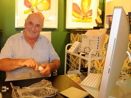 Peter Antolini, who works at Philip Morton Gallery on Baltimore Avenue in Rehoboth Beach.