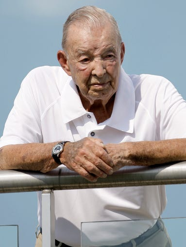 Detroit Lions owner William Clay Ford Sr. watches the 2009 NFL football minicamp. He bought the Lions in 1963 for $4.5 million.