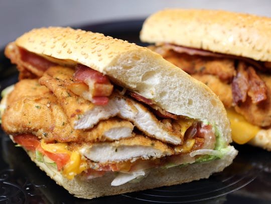 The #5 specialty sandwich made with chicken cutlet,