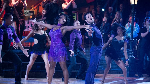 Normani Kordei and Valentin Chmerkovskiy perform.