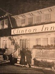 John S. Chagaris greeting visitors to the inn  circa 1951.
