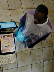 Police are searching for the suspect who stole $240