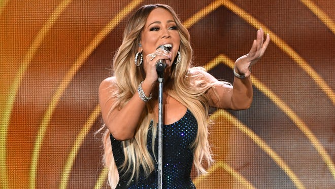 Mariah Carey performs onstage during the 2018 iHeartRadio Music Festival at T-Mobile Arena, Friday, in Las Vegas.