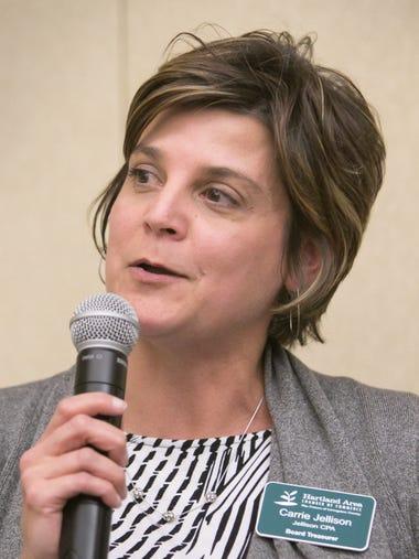 Hartland Area Chamber of Commerce board treasurer Carrie