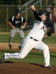 St. Cloud's Reese Gregory pitches to an Alexandria