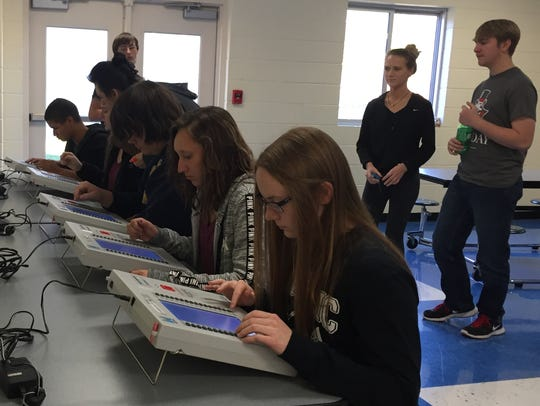 A total of 134 Stewart County High School seniors vote