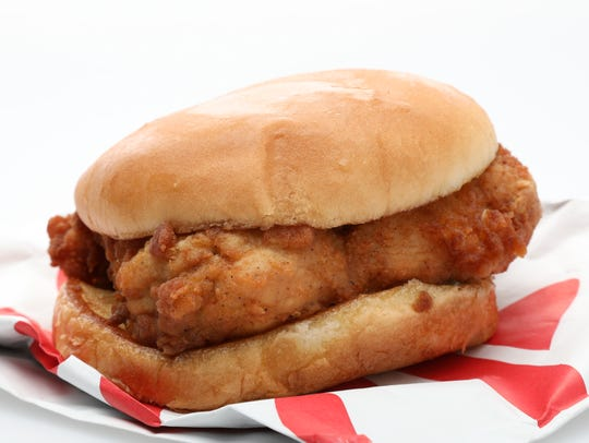 The Chick-fil-A Chicken Sandwich was lightly crispy