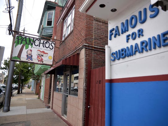 Panchos Mexican Taqueria is located next door to the