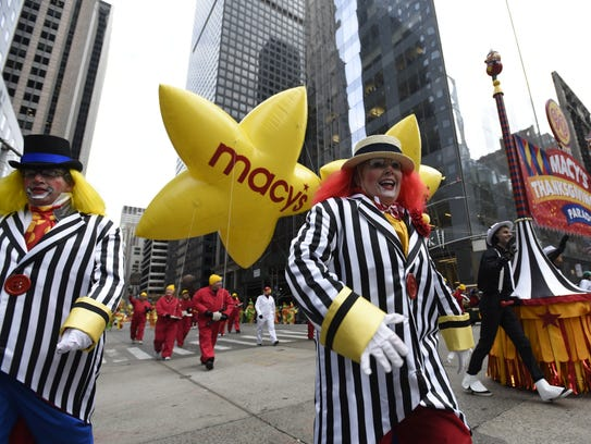 A scene from last year's Macy's Thanksgiving Day parade.