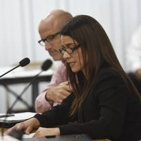 Department of Administration Director Christine Baleto gives her testimony during a public hearing at the Guam Legislature in Hagåtña on Feb. 29.