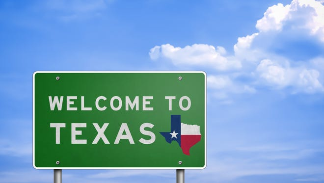 FILE -- Texas road sign