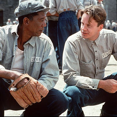 "1993. Morgan Freeman, left and Tim Robbins star in ""The Shawshank Redemption,"" which was shot in the Mansfield, Ohio, area in summer 1993 and premiered at the Toronto Film Festival in September 1994."