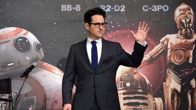 Director J.J. Abrams at a news conference to promote 'Star Wars: The Force Awakens' in Japan in 2015.