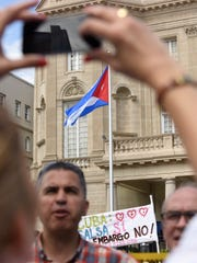 The reopening of the Cuban embassy was marked by a
