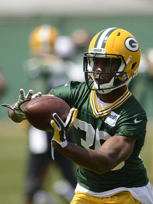 Green Bay Packers rookie cornerback LaDarius Gunter is working in the slot and on the perimeter this season.