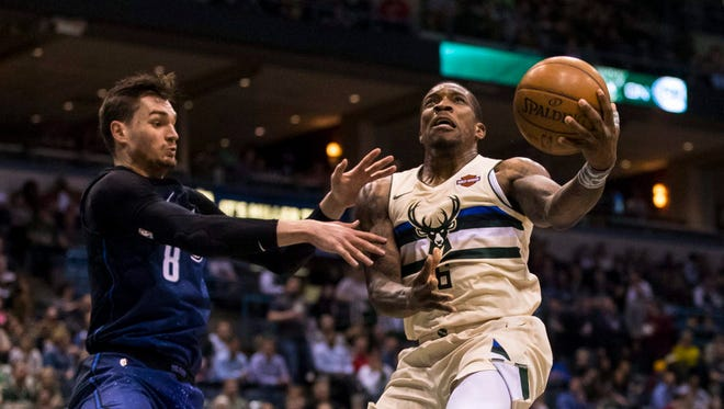 Bucks guard Eric Bledsoe had a triple-double vs. the Magic on Monday night at the BMO Harris Bradley Center.