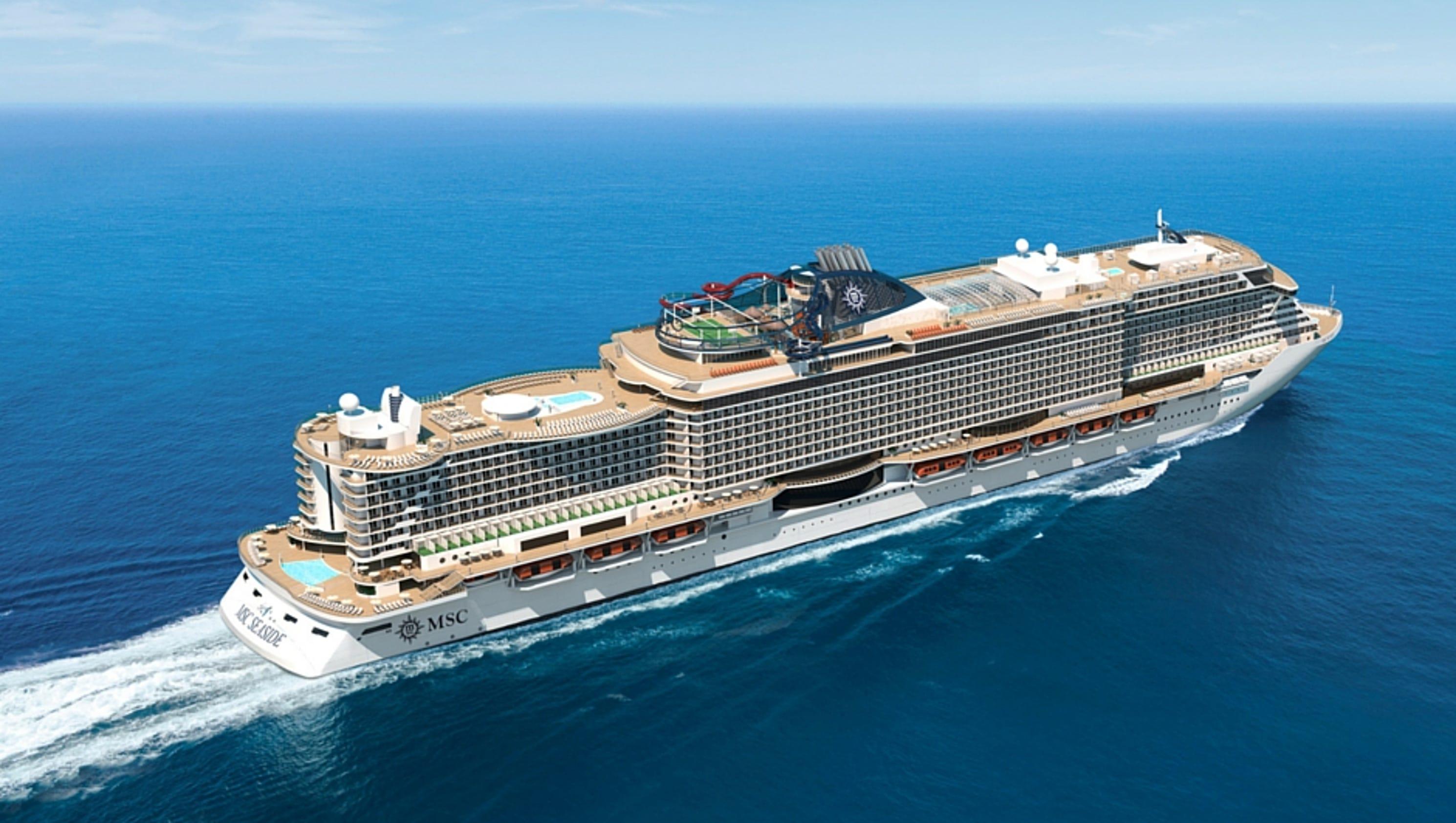 First look msc cruises 39 msc seaside for Msc immagini