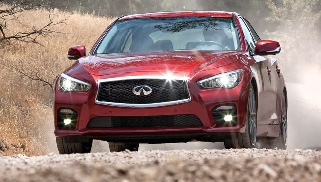 The new Infiniti Q50 was the Nissan premium brand's best-seller, with sales up 75.8% from a year ago, as brand sales rose more than 31%.