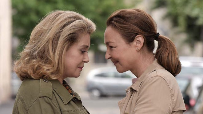 """Claire (Catherine Frot, right) comforts Béatrice (Catherine Deneuve) in """"The Midwife."""""""