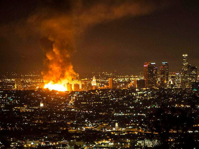 Possible Foul Play Probed In Massive L A Fire