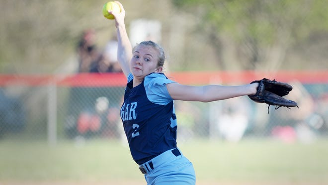 Senior Riley Roberts was the winning pitcher for Enka in Tuesday's 12-2 game at Erwin.