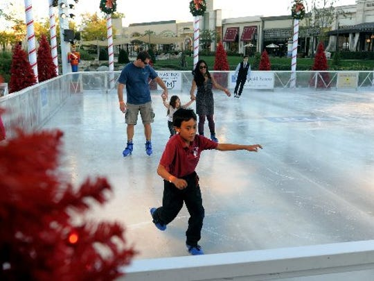 Tie on your skates and hit the ice at The Lakes in Thousand Oaks.