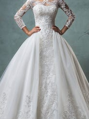 Wedding Dress Double Skirt