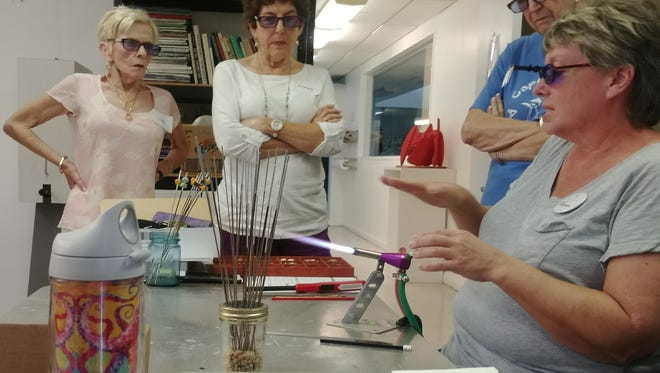 At the Arts Studio, adults and youth may take classes not only in painting with oils, watercolors and acrylics, but also in silver-smithing, bead-making, wheel-throwing and stone sculpture, among others.
