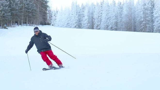 Skiers are happy with the consistent new snow fall at Ski Apache.