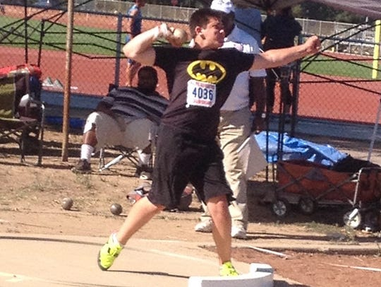 West Valley High School junior Payton Fuller competes