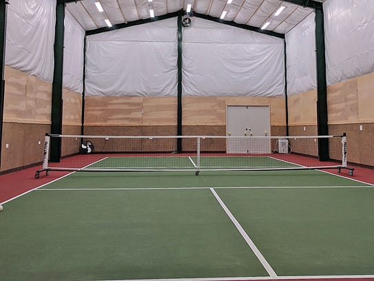 George Raft built this indoor pickleball court at his