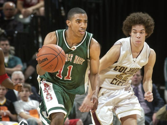 Lawrence North's Mike Conley