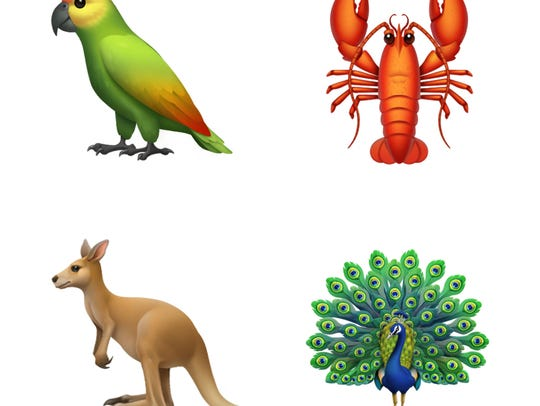 Previews of new Emojis from Apple