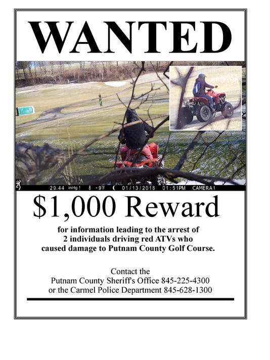 Reward offered for info on ATV riders