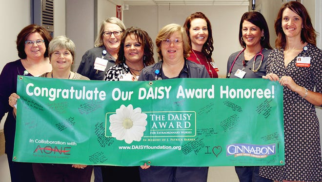 Pat Pfund, RN, a respiratory step-down nurse at McLaren Greater Lansing, was honored this month with the DAISY Award for Extraordinary Nurses.