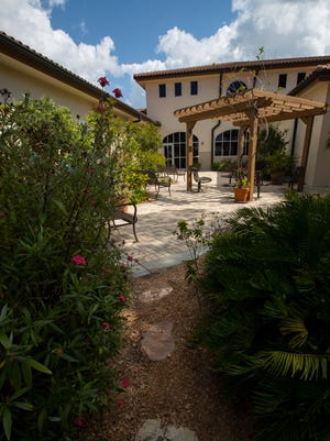 The Cape Coral Library offers visitors an opportunity to enjoy their butterfly garden area for quiet reading and observation.