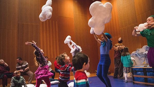 """""""Red Kite Blue Sky"""" was the most recent Red Kite Adventure at Chicago Children's Theatre."""