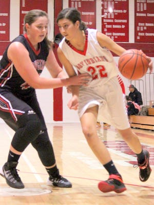 Cobre's Lexus Guck tallied six points to share the team lead in points Tuesday night against Cliff High School. The Lady Indians would fall to the Cowgirls in their home opener.