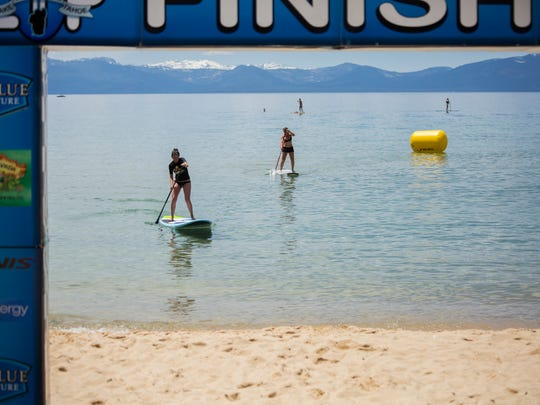 The 2016 Thunderbird Paddling Festival combined stand-up paddle board, swimming and beach running for a challenging day of events at Tahoe's Sand Harbor Beach June 11.