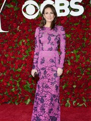 Laura Benanti arrives at the 2016 Tony Awards at the Beacon Theatre in New York.