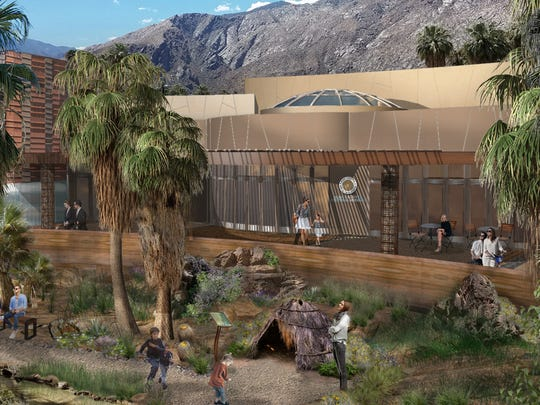A rendering of the planned Agua Caliente Cultural Museum in downtown Palm Springs.