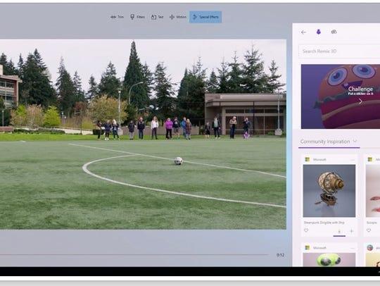 Microsoft demonstrates Windows Story Remix at Build