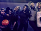 Hilary Duff (3L) enjoys a girls' night out to the bowling