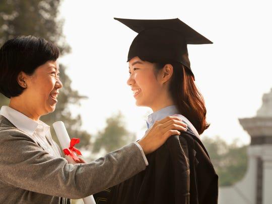 A proud college parent