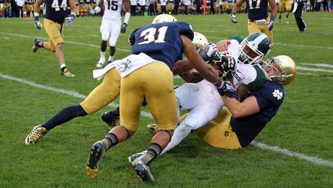 Michigan State vs. Notre Dame in 2013.