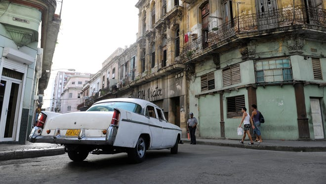 Vintage cars on the streets of Havana, Cuba.