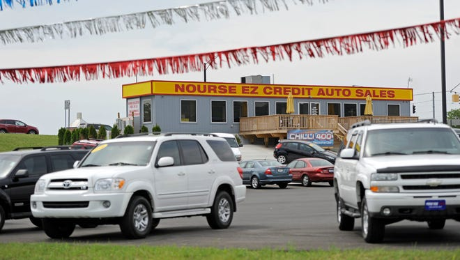 "Nourse Auto has expanded numerous times in Chillicothe, including this site on North Bridge Street near its existing auto mall. Nourse is seeking a new site in the Guernsey Crossing plaza that will not be designed like this one but that will follow the Nissan ""N-Ready"" appearance model."