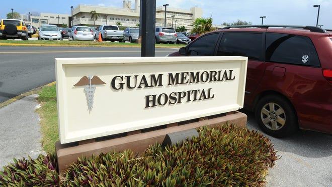 The Guam Memorial Hospital sign.