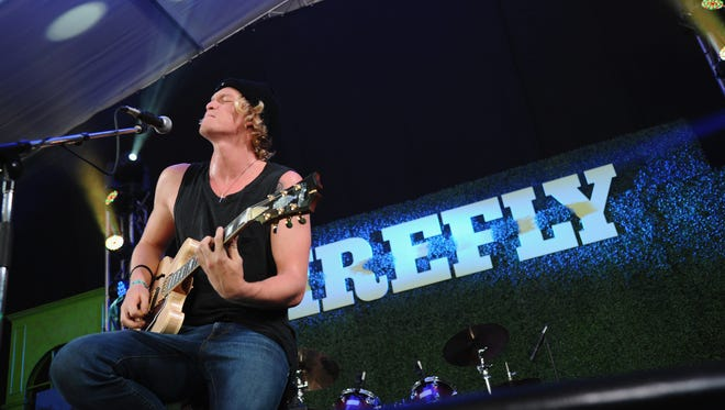 Cody Simpson performs at the Firefly Music Festival in Dover earlier this year.