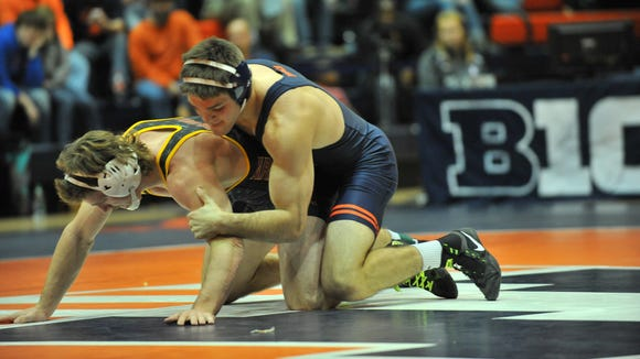 Submitted photo of Illinois wrestler Steven Rodrigues,
